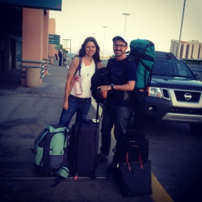 Ready to go at 6:00 am on the morning we left New Mexico. August 11, 2014.