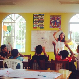 Michaela co-teaching in the English Community Center in Nueva Guinea.
