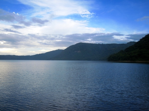 A crater lake called Laguna de Apoyo Nature Reserve. It is a nature reserve located between the departments of Masaya and Granada in Nicaragua