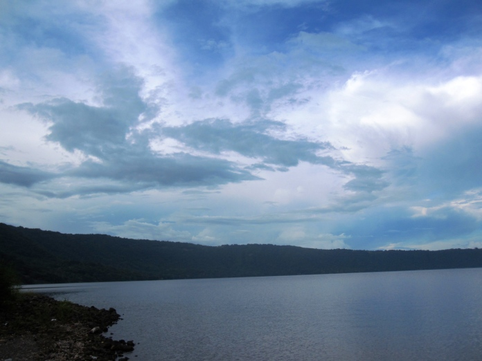 A crater lake called Laguna de Apoyo Nature Reserve. It is a nature reserve located between the departments of Masaya and Granada in Nicaragua. September 20, 2014.