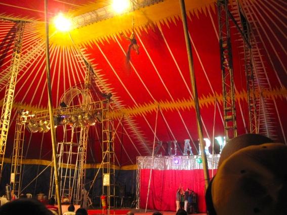 Guatemalan circus in Masatepe, Nicaragua. September 27, 2014.