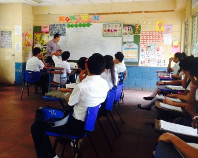 My first day in a Nicaraguan classroom was on August 20, 2014 to observe. My first day co-teaching was on September 1, 2014.