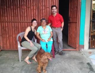 Michaela and I with her host-mom, Janet. September 19, 2014.