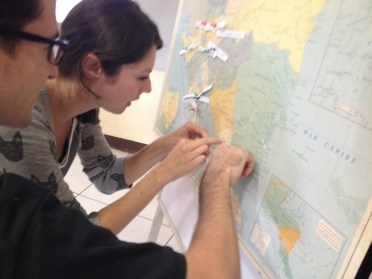 Trying to find our place on the map.