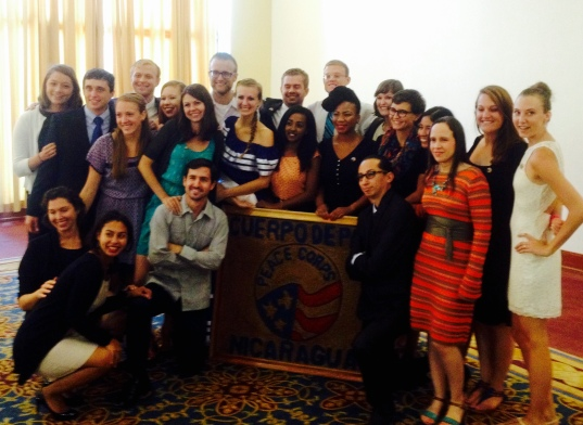 Peace Corps/Nicaragua TEFL 64 moments after swearing-in. We did it!