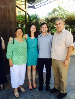 Conor and I with his host-parents, Salvador and Adilia.