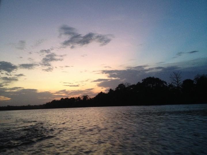 Sunset on the Rio San Juan.
